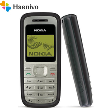 Nokia 1200 Refurbished-Original 1200 unlocked gsm 900/1800 mobile phone with russian HEBREW polish language free shipping