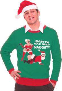 Jultröja naughty santa