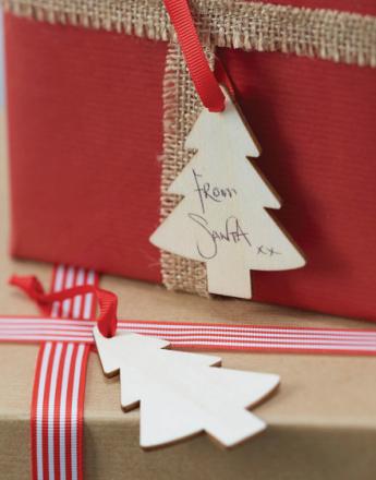 6 stk Juletre Dekorasjoer/Til og Fra Tagger - Juleglede
