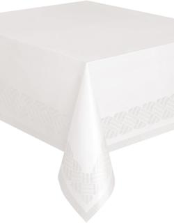 Hvit Papirduk med Plastbelagt Underside 274x137 cm