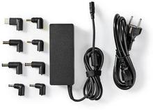 Nedis Notebookadapter   Universell med 8 kontakter   90 W   Uteffekt 15 V-20 V/6 A (max.)