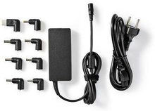 Nedis Notebookadapter   Universell med 8 kontakter   65 W   Uteffekt 15 V-20 V/4 A (max.)