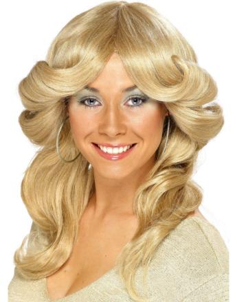 Blond 70-Talls ABBA Inspirert Agnetha Discoparykk med Bølger
