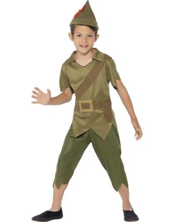 3 Deler Robin Hood/Peter Pan Barnekostyme
