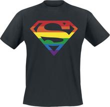 DC Heroes - Superman - Pride -T-skjorte - svart