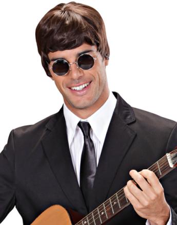 Brun Beatles Inspirert Parykk i God Kvalitet