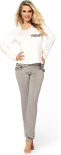 Grå bukser & hvid bluse Malwina nattøj set