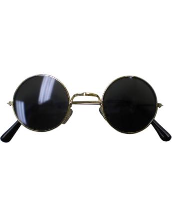 Runde John Lennon med Svart Glass - Kostymebriller