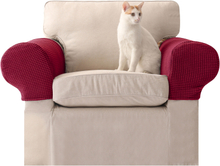 2 Stk. Silky Universal Elastic Armlehnenbezug Handtuch rutschfeste gestrickte, einfach und doppelt dicke Sofabezug