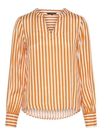 VERO MODA Striped Long Sleeved Top Women Orange