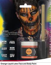 Orange Flytende Latex UTEN AMMONIAKK for Ansikt og Kropp med Svamp Kost 56 ml