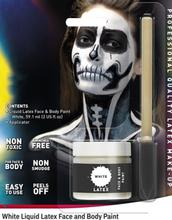Hvit Flytende Latex UTEN AMMONIAKK for Ansikt og Kropp med Svamp Kost 56 ml