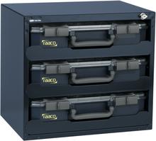 Raaco sikkerhedsboks 136389 med 3 CarryLite 80 sortimentskasser