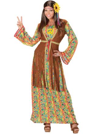 60-tals Hippie Babe Damkostym
