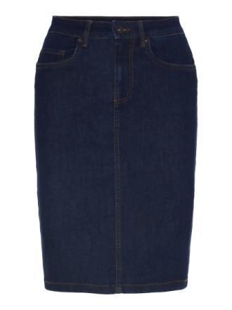 VERO MODA High Waist Denim Pencil Skirt Women Blue