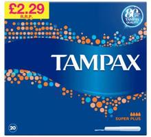Tampax Super Plus 20 stk