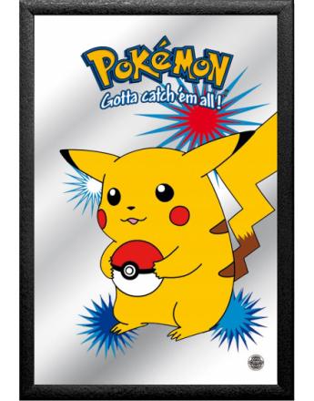 Pikachu - Pokemon Pokemon Licensierad 22 x 32 cm Inramat Spegel med Motiv
