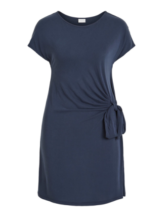 VILA Knot Detail- Dress Women Blue
