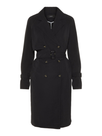 VERO MODA Long Trenchcoat Women Black