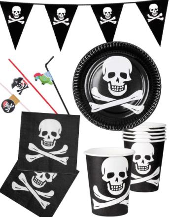 Festpakke for 12 Personer - Pirat Bursdag