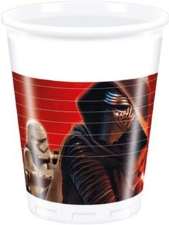 8 stk Star Wars VII Plastkrus 200 ml - Star Wars