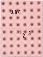 Design Letters - Design Letters Opslagstavle A4, Lyserød