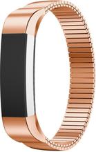 Fitbit Alta luksuriøs elastisk klokkereim av rustfritt stål - Rødgull