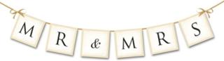 Bryllup Mr & Mrs Banner 77 cm