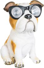 Hund Solcellebelysning LED 23 cm Figur