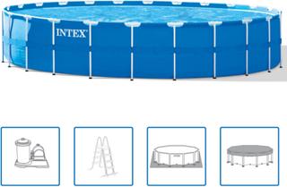 Intex Stålramme Rund Pool Sæt 732 x 132 cm 28262GN