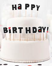 Happy Birthday! 14 stk Kakedekorasjoner