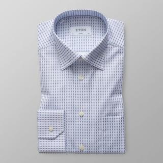 Eton Classic fit Skjorta med mönster av tennisracketar