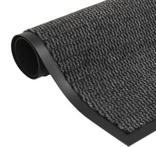 vidaXL måtte med støvkontrol rektangulær tuftet 60 x 90 cm antracitgrå