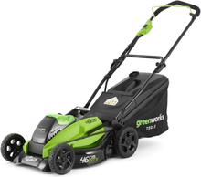 Greenworks Gressklipper med 40 V 4 Ah batteri GD40LM45 2500407UB