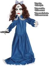 Creepy Little Vampiregirl - 90 cm Dekorasjon med Lyd, Lys og Bevegelse