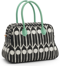 Littlephant - Feathers Small Day Bag, Sort/Hvid