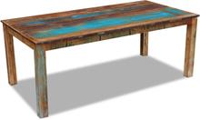vidaXL Matbord massivt återvunnet trä 200x100x76 cm