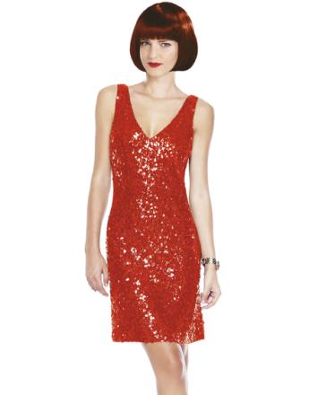 Röd Partyklänning med Paljetter