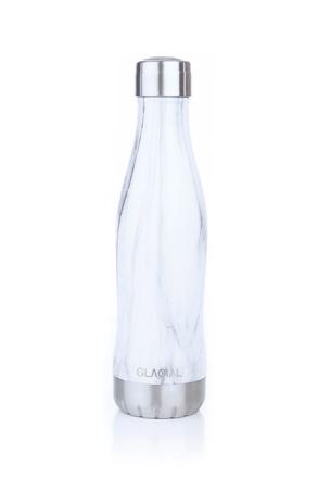 Glacial Flaska WHITE MARBLE 400ML Man