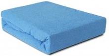 Prześcieradło Frotte z gumką niebieskie 160x200