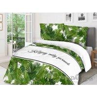 Pościel bawełniana Miły poranek 160x200 – zielone liście