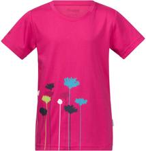 Bergans Flower Kids Tee Barn T-shirt Rosa 80
