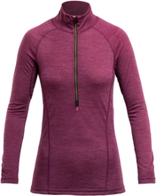 Devold Running Woman Zip Neck Dame langermede treningstrøyer Lilla L