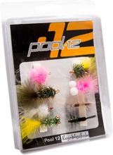 Pool 12 Flugor För Regnbågsfiske beten Flerfärgad OneSize