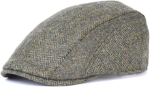 Barbour Herringbone Tweed Cap Herr Keps Grön XL