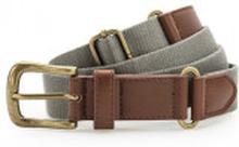 Faux Leather & Braid Belt Slate