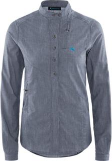 Klättermusen Lofn Shirt Women's Dame langermede skjorter Blå XS