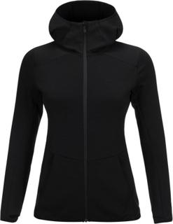 Peak Performance Women's Helo Hooded Mid Jacket Dame mellanlager tröjor Sort XS