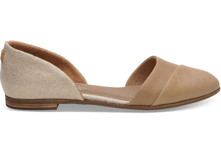 TOMS Schuhe Honey Leder Jutti D'Orsay - Größe 35.5