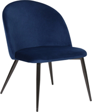 Alice - Velour lænestol i mørkeblå